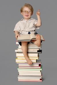 Atop books