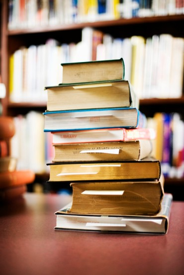 Stack of Library Books