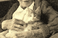 Old woman holding cat 2